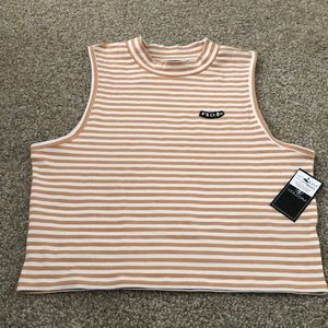 Volcom Sleeveless Stripped Turtleneck